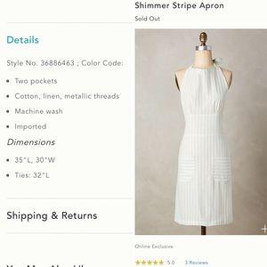 Anthropologie Shimmer Stripe Apron